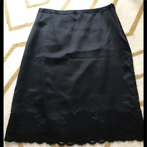 Banana Republic black silk skirt, SZ 8.
